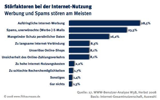 Störfaktoren bei der Nutzung des Internet